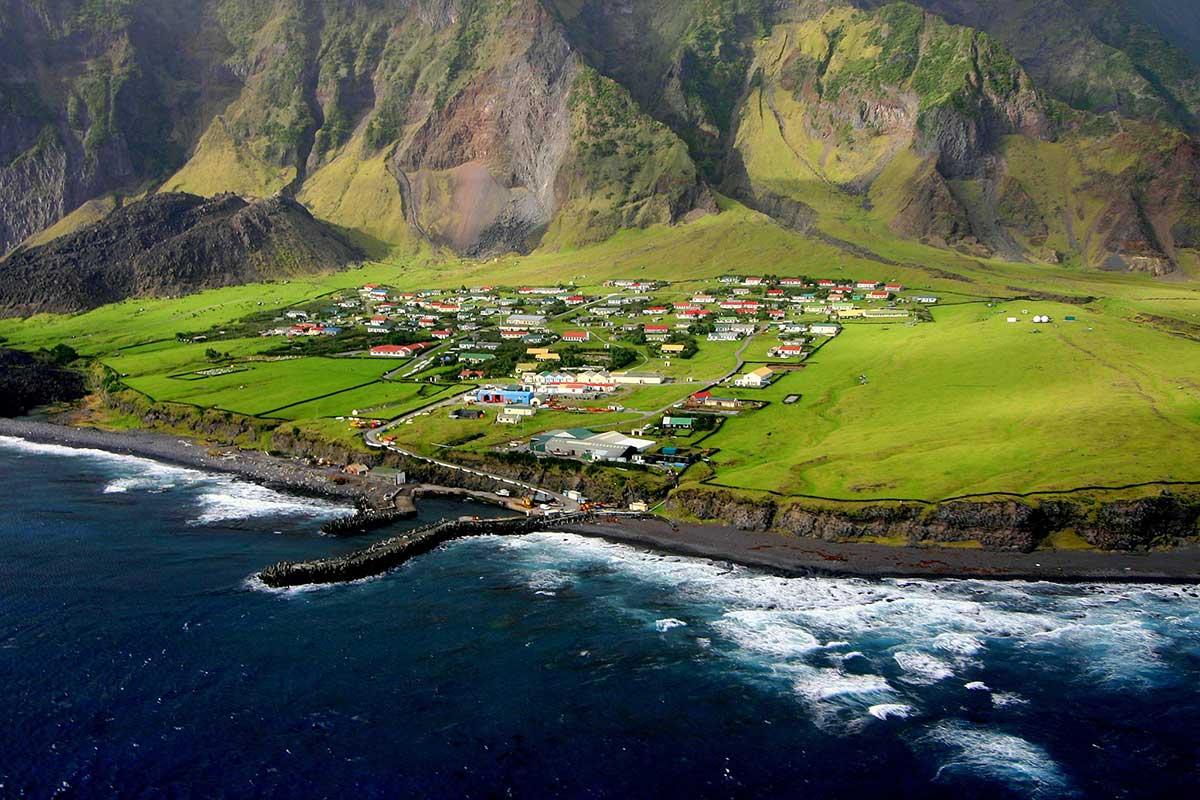 Tristan da Cunha Island View